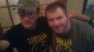 "Me and Joe Cohen, who also goes by the name ""DJ Joe,"" were wearing our Nirvana shirts at Bee'z Bistro and Pub on May 6, 2015."