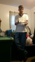 I also got new jeans from Nautica this Christmas ... and I also got a new biege sweater from John Ashford for X-mas.